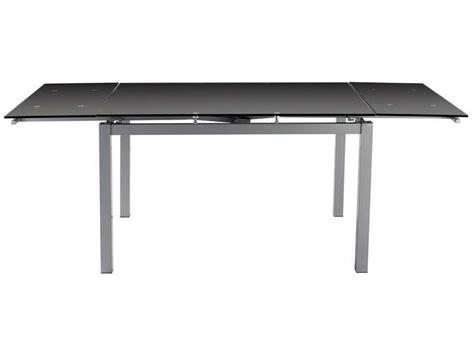 table de cuisine en verre avec rallonge table 3 coloris noir conforama pickture