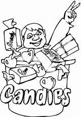 Coloring Candy Snacks Freecoloringpagefun Lollipop Sheets Candies Boy sketch template