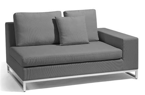 accoudoir de canapé canapé zendo de manutti à 1 accoudoir à gauche gris