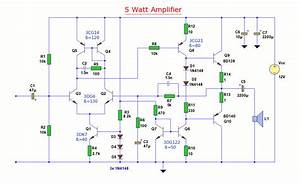 12 Volt 5 Watt Amplifier - Amplifier Circuit