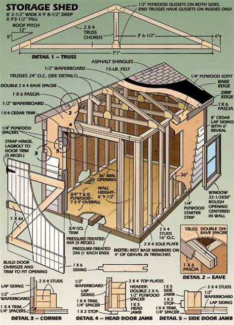 shed building plans 8 215 12 diy building a shed the ways