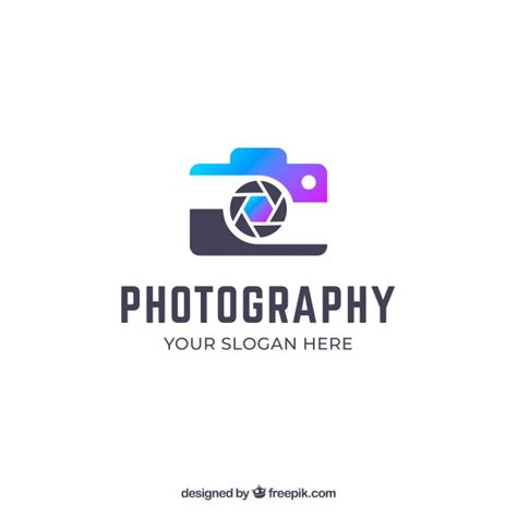 photography logo  gradient colors vector
