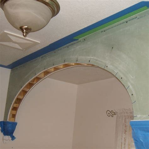 un si鑒e how to drywall or sheetrock arches and arch doorways