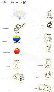 go grow glow food worksheets for grade 1 go grow or glow food by marianne planas teachers pay