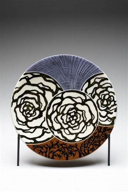 Pottery Painting Designs Ceramic Ceramics Plate Clay