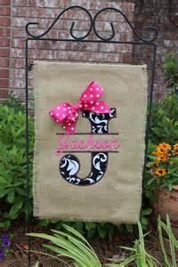 Burlap Garden Flags with Bows