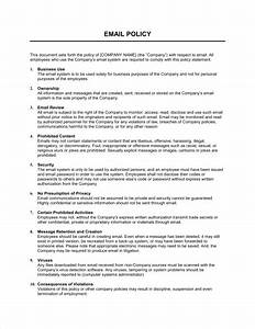 Staff Policy Template Email Policy Strict Template Sample Form