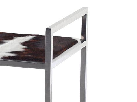 tabouret en peau de vache dixon by azea design victor caetano