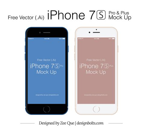 iphone 7 s free vector apple iphone 7 s plus pro mockup in ai eps