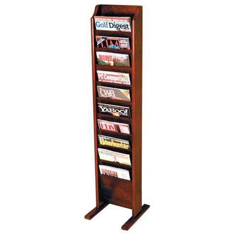 magazine rack wooden mallet mr14 s 10 pocket freestanding magazine rack office zone 174