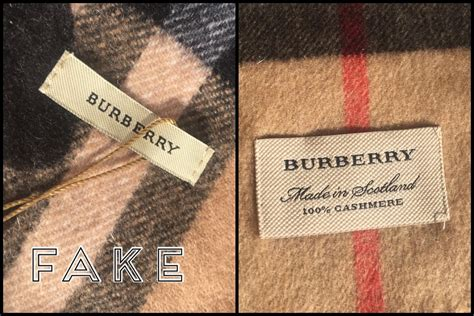 burberry heart scarf    recognise  fake