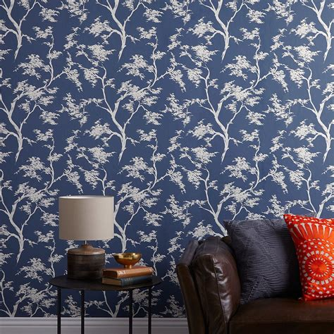 Bedroom Wallpaper Range by Lewis Partners Japanese Tree Wallpaper