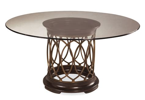 round glass table l art intrigue round glass top dining table 161224 2636