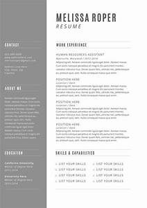 cv design cover letter instant download by brandconceptco With etsy resume template download free