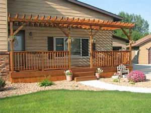 Laundry Mud Rooms Front Deck Design Front Porch Pergola Design Idea Simple Front Porch Pergola Design Ideas