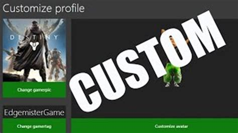 How To Get Rare Custom Gamerpic For Xbox One Glitch Youtube
