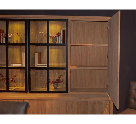 canapé bois et tissu bibliothèque teck massif contemporaine quot groove quot 6590