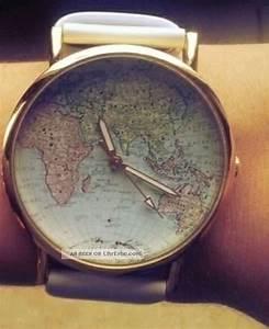 Armbanduhr Mit Weltkarte : damen retro blogger uhr armbanduhr wei gold mit weltkarte ~ Orissabook.com Haus und Dekorationen