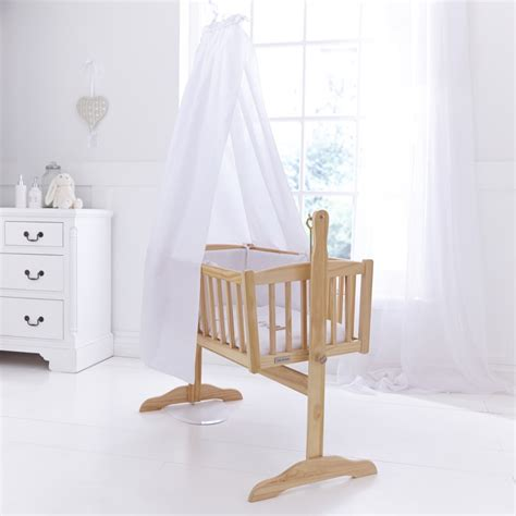 Crib Drapes - cot crib cradle free standing drape rod set