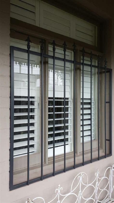 steel security window bars installed  toorak window bars window security bars window