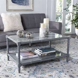 Safavieh, Noam, Modern, Solid, Coastal, Bamboo, Coffee, Table, -, Walmart, Com