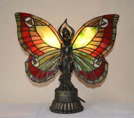 Tiffany Ceiling Fan Lights by Stained Glass Butterfly Deco Night Light Table Desk