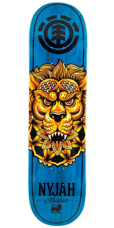 element nyjah huston bloomed skateboard deck 7 75 quot