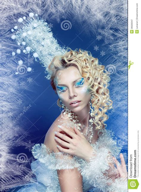 snow queen royalty  stock photography image