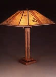 Sue Johnson Table Lamps by Contemporary Craftsman Wooden Table Lamp Mica Lampshade