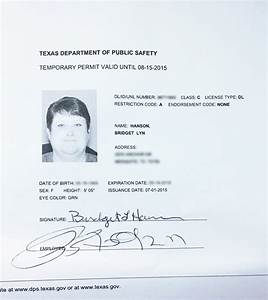 what a difference a week makes dallas voice With texas temporary drivers license template