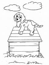 Coloring Puppy Dog Pet Climb Dogs sketch template