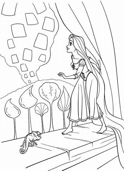 Coloring Rapunzel Pages