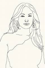 Coloring Jlo Celebrity Template Looking sketch template
