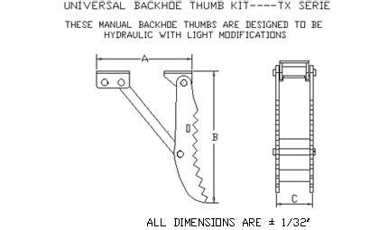 backhoe thumbs