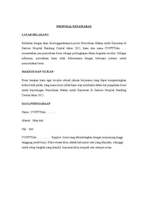 Contoh Penawaran Produk Docx by Contoh Penawaran Kerjasama 1