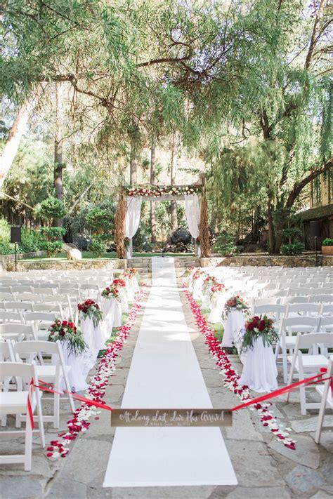 aisle decor ceremony space petals chair wedding