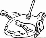 Coloring Pages Meat Ham Sandwich Colouring Food Coloringpages101 Printablecolouringpages Larger Credit sketch template