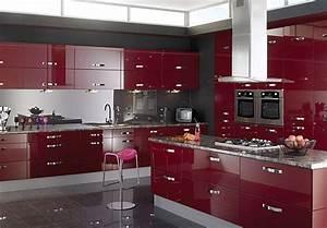 cuisine noir blanc rouge With cuisine moderne rouge et noir