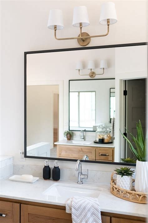 bathroom mirror modern farmhouse bathroom mirror  thin