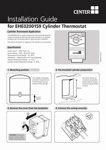 Installation Guide For Ehe0200159 Cylinder Thermostat