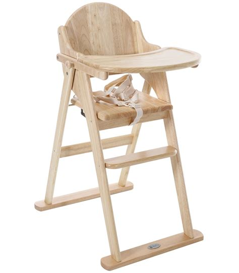 buy  baby weavers wooden folding highchair natural