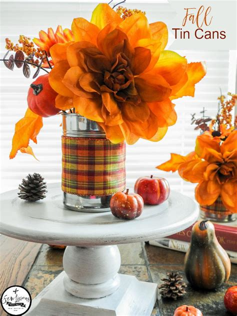 fall decoration recycled tin cans favecraftscom