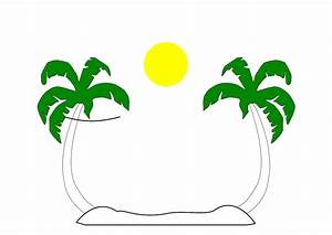 Palm Tree Beach Clipart | Clipart Panda - Free Clipart Images