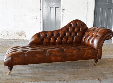 chaise but antique leather chesterfield chaise lounge abode sofas