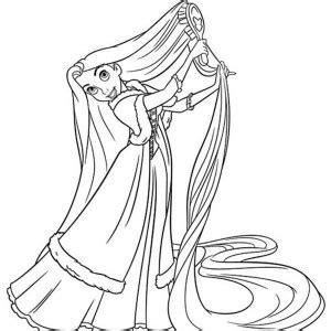 rapunzel tickling pascal coloring page kids play color