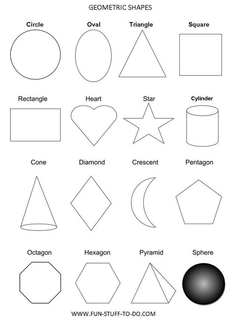 basic geometric shapes homeschool math shape