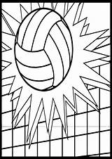 Volleyball Coloring Ball Pages Printable Sheets Wecoloringpage Cool Cheer sketch template