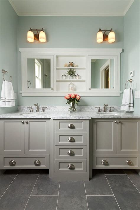Bathroom Wall Color With Cabinets by Best 25 Grey Bathroom Vanity Ideas On Grey