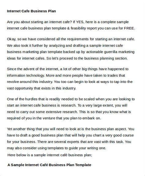 business plan templates  word  premium templates