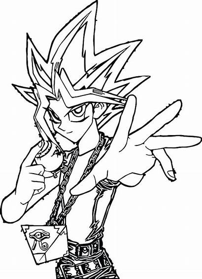 Coloring Pages Dark Magician Yugioh Yu Gi